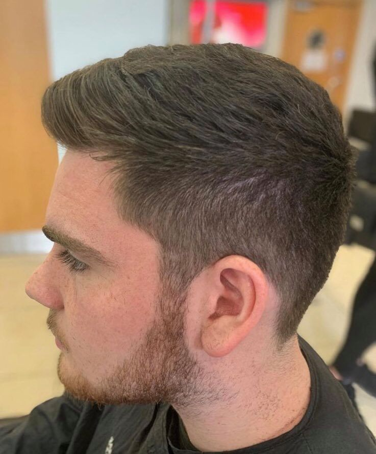 mens classic short back and sides with a modern edge