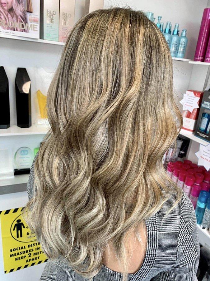 beautiful balayage dark blonde hair