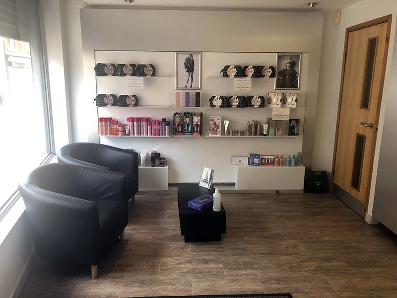 Waiting area at Hetton salon